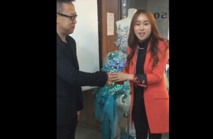 韩国女星为北京卓尚化妆学校送上祝福