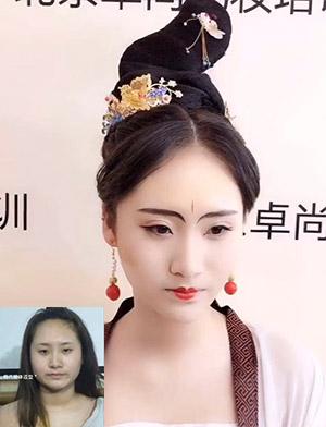 古装造型妆前妆后作品