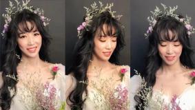 妆容解析:新娘森系鲜花造型